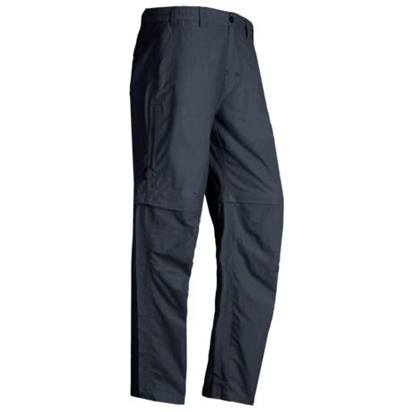 White Sierra Point Convertible Pants - UPF 30 (For Men) in Titanium