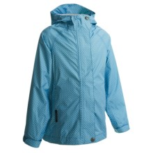 White Sierra Polka-Dot Trabagon Jacket - Waterproof (For Girls) in Horizon Blue - Closeouts