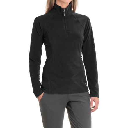 White Sierra Ponderosa Fleece Jacket - Zip Neck (For Women) in Black - Closeouts