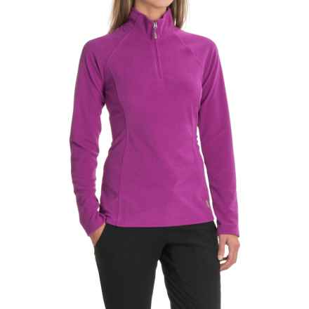White Sierra Ponderosa Fleece Jacket - Zip Neck (For Women) in Clover - Closeouts