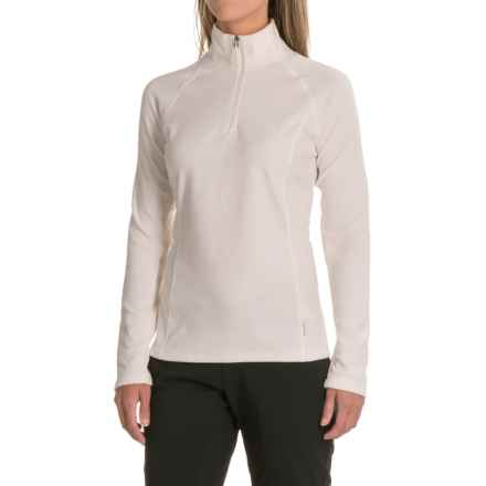 White Sierra Ponderosa Fleece Jacket - Zip Neck (For Women) in Milky White - Closeouts