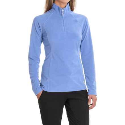 White Sierra Ponderosa Fleece Jacket - Zip Neck (For Women) in Sky Blue - Closeouts