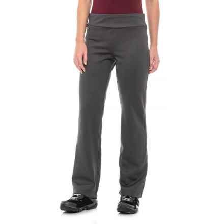 White Sierra Power Fleece Pants (For Women) in Caviar - Closeouts