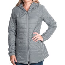 White Sierra Puffy Peak Parka (For Women) in Quarry - Closeouts