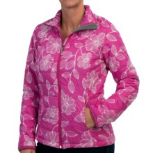 White Sierra Puffy Peak Printed Packable Jacket (For Women) in Sugar Plum Combo - Closeouts