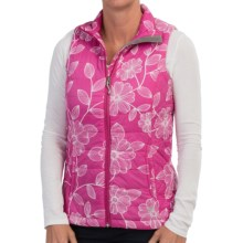 White Sierra Puffy Peak Printed Packable Vest (For Women) in Sugar Plum Combo - Closeouts