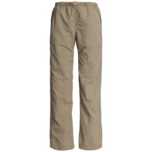 White Sierra Quick-Dry Nylon Pants - UPF 30 (For Women) in Bark - Closeouts