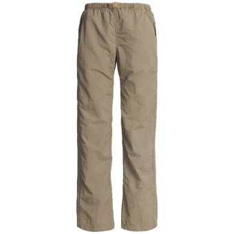 White Sierra Quick-Dry Nylon Pants - UPF 30 (For Women) in Bark
