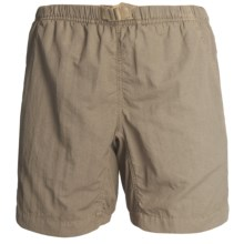 White Sierra Quick-Dry Nylon Shorts - UPF 30 (For Women) in Bark - Closeouts