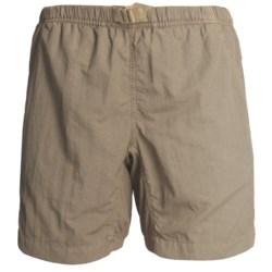 White Sierra Quick-Dry Nylon Shorts - UPF 30 (For Women) in Sage