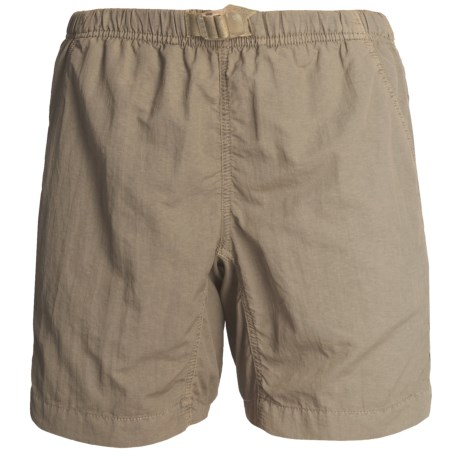 White Sierra Quick-Dry Nylon Shorts - UPF 30 (For Women) in Sage