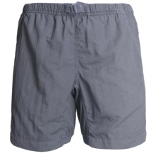 White Sierra Quick-Dry Nylon Shorts - UPF 30 (For Women) in Black - Closeouts