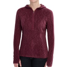 White Sierra Rainbow Hoodie - Zip Neck (For Women) in Beet Red - Closeouts