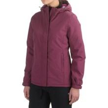 White Sierra Rainier Jacket - Waterproof, Insulated (For Women) in Crushed Grape - Closeouts
