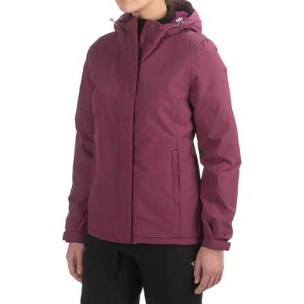 White Sierra Rainier Jacket - Waterproof, Insulated (For Women) in Crushed Grape - Closeouts