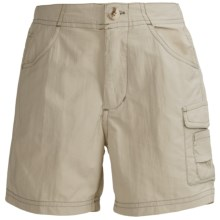 White Sierra River Shorts - UPF 30 (For Girls) in Stone - Closeouts