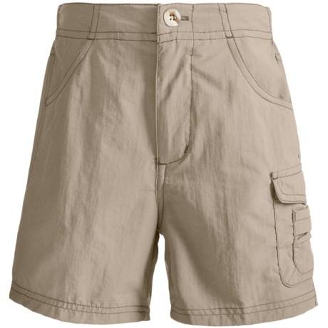 White Sierra River Shorts - UPF 30 (For Girls) in Stone