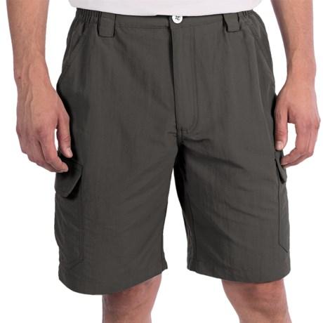 White Sierra Rocky Ridge Shorts (For Men) in Caviar