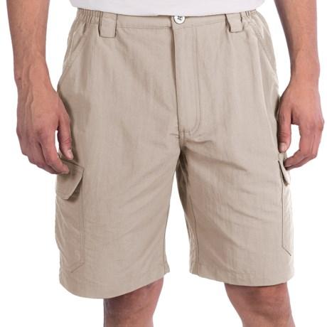 White Sierra Rocky Ridge Shorts (For Men) in Sand