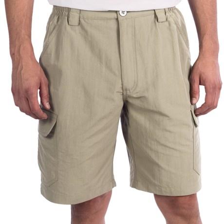 White Sierra Rocky Ridge Shorts (For Men) in Stone