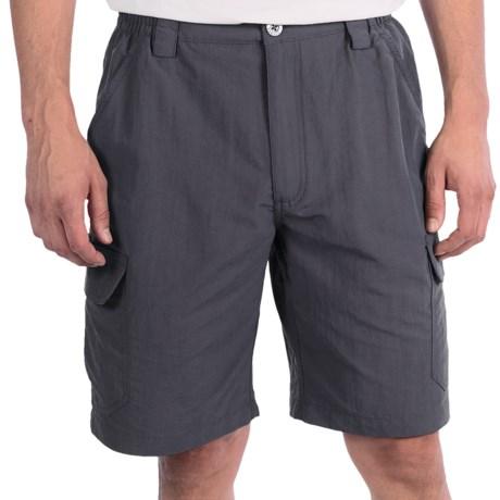 White Sierra Rocky Ridge Shorts (For Men) in Titanium
