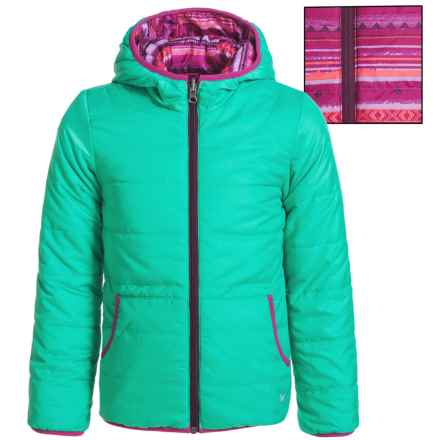 White Sierra Rocky Rivers Reversible Jacket - Insulated (For Little and Big Girls) in Mint - Closeouts