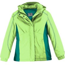 White Sierra Rose Canyon Jacket - Insulated (For Youth) in Green Apple - Closeouts