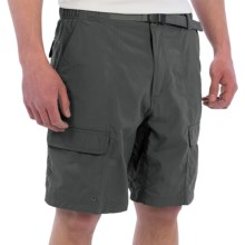 White Sierra Safari II Shorts (For Men) in Caviar - Closeouts