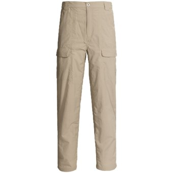 White Sierra Safari Pants - UPF 30 (For Men) in Stone