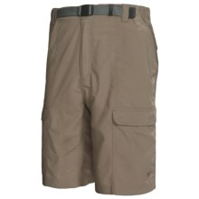 White Sierra Safari Shorts - UPF 30 (For Men) in Bark - Closeouts
