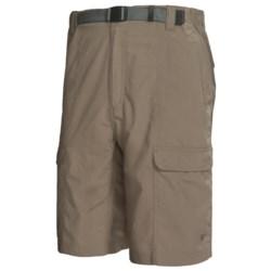 White Sierra Safari Shorts - UPF 30 (For Men) in Stone
