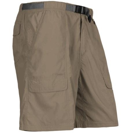 White Sierra Safari Shorts - UPF 30 (For Men) in Bark