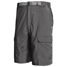 White Sierra Safari Shorts - UPF 30 (For Men) in Caviar - Closeouts
