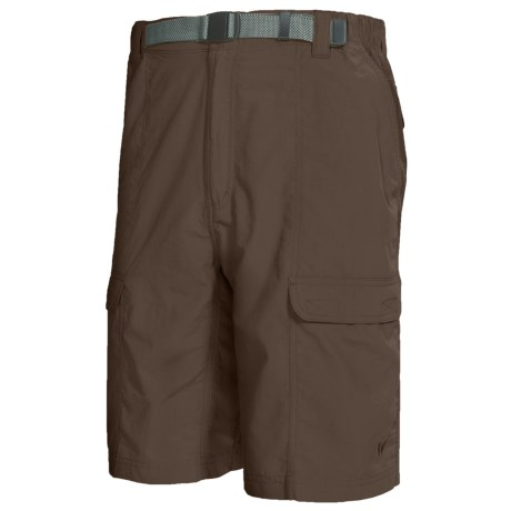 White Sierra Safari Shorts - UPF 30 (For Men) in Cigar