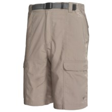 White Sierra Safari Shorts - UPF 30 (For Men) in Stone - Closeouts