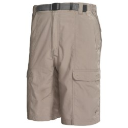White Sierra Safari Shorts - UPF 30 (For Men) in Stone