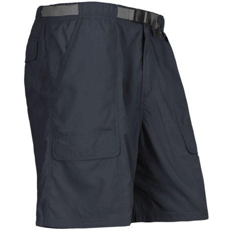 White Sierra Safari Shorts - UPF 30 (For Men) in Titanium