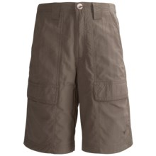 White Sierra Safari Shorts - UPF 30 (For Youth) in Bark - Closeouts