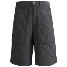 White Sierra Safari Shorts - UPF 30 (For Youth) in Caviar - Closeouts