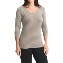 White Sierra Shadow Shirt - 3/4 Sleeve (For Women) in Stone - Closeouts