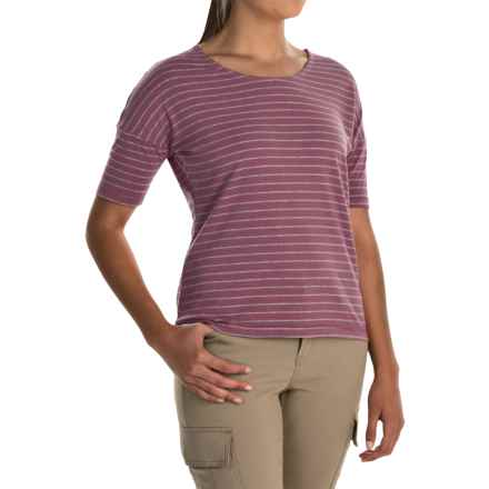White Sierra Shadow T- Shirt - Short Sleeve (For Women) in Grape - Closeouts