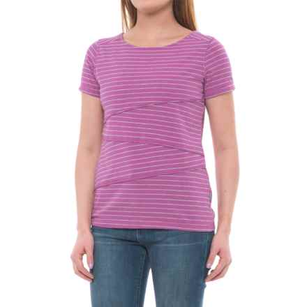 White Sierra Shadow T-Shirt - Short Sleeve (For Women) in Orchid - Closeouts