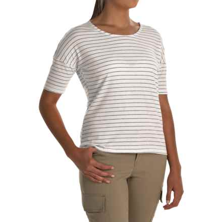 White Sierra Shadow T- Shirt - Short Sleeve (For Women) in White Alyssum - Closeouts