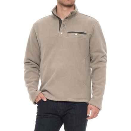 White Sierra Sherpa Fleece Sweatshirt - Snap Placket (For Men) in Rock Ridge - Closeouts