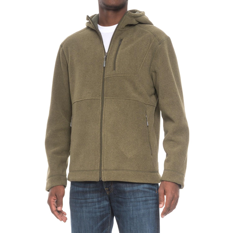 White Sierra Sherpa Hooded Fleece Jacket (For Men) - Save 37%