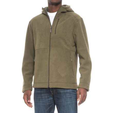 White Sierra Sherpa Hooded Fleece Jacket (For Men) in Dark Sage - Closeouts