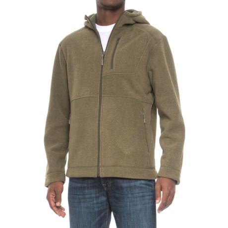 White Sierra Sherpa Hooded Fleece Jacket (For Men)
