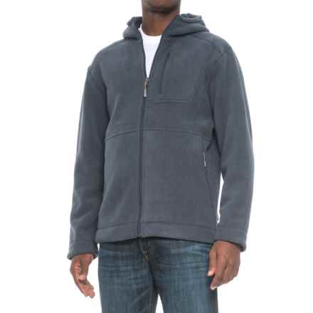 White Sierra Sherpa Hooded Fleece Jacket (For Men) in Navy Ii - Closeouts