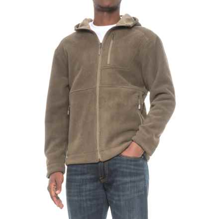 White Sierra Sherpa Hooded Fleece Jacket (For Men) in Wren - Closeouts