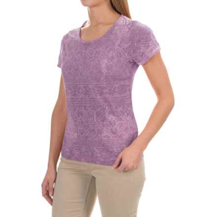 White Sierra Shiva Burnout T-Shirt - Short Sleeve (For Women) in Grape - Closeouts